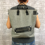 BAGPACK CANVAS GREY
