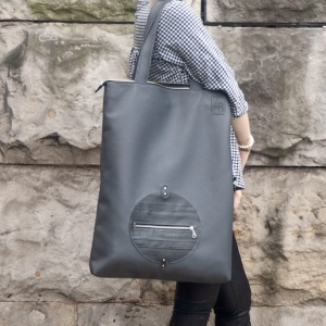 SHOPPER GREY CIRCLE XL